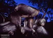 granite arch, granite boulders, Girraween National Park, Granite Belt, light painting photography, south-east Queensland, long time exposure, medium format photography,