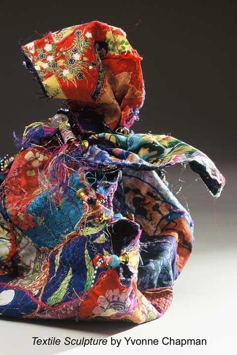 Textile sculpture by Yvonne Chapman