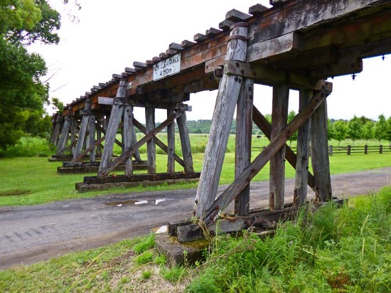 Railway Trestle Bridge, Eltham recce